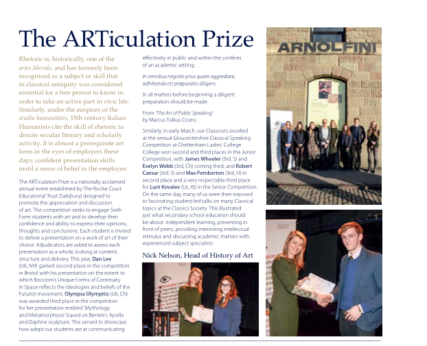 The Articulation Prize Article